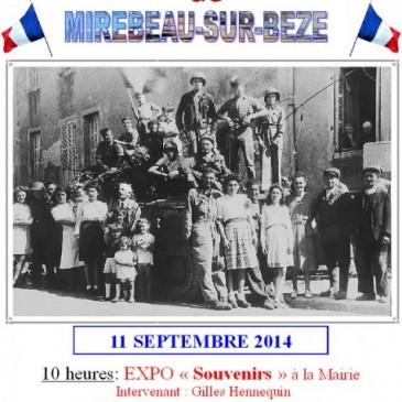 Commémoration de la Libération de Mirebeau-11/09/2014