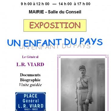 Mirebeau/Bèze – Juin 2015 – Exposition UN ENFANT DU PAYS : le général L-R VIARD
