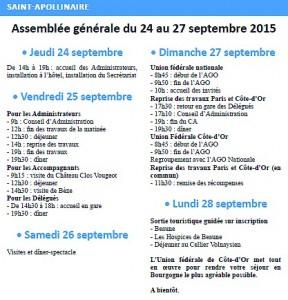 Programme AG  St Apollinaire