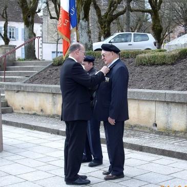 Rétroactivités  de la section de Saulieu en 2015 et mise à l'honneur de Jean GORIOT, ancien combattant Indochine/AFN