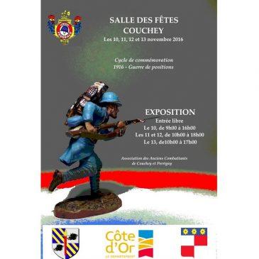 Du 10 au 13 novembre 2016 : EXPOSITION sur la GRANDE GUERRE à Couchey