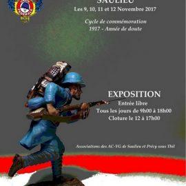 SAULIEU  9-10-11-12 novembre 2017  – EXPOSITION sur la Grande Guerre :  1917, une année de doute.