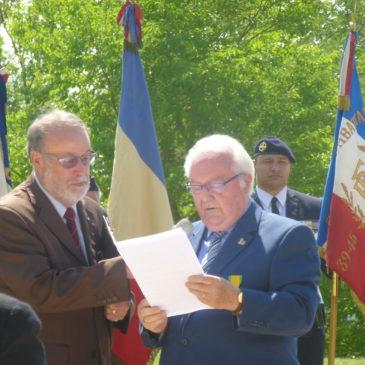 9 juin 2018 – TALANT- Cérémonie du Centenaire de l'UNC et de L'UF de Côte d'Or.