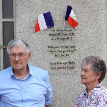 Mai  2018 – Leuglay – Hommage à trois héros morts pour la France.