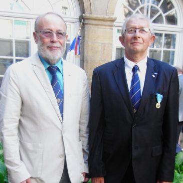20 juin 2018 – Châtillon-sur-Seine – Remise de la Médaille de la Jeunesse, des Sports et de l'Engagement associatif à Gilles SURIREY.